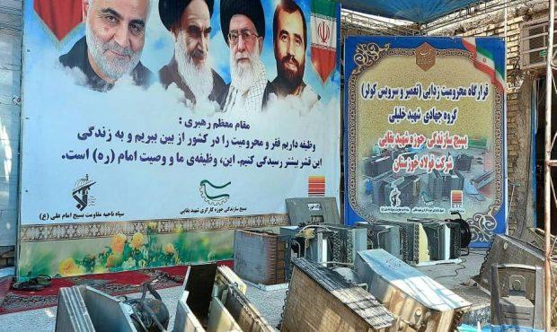شروع به کار قرارگاه محرومیتزدایی شهیدعلی هاشمی فولاد خوزستان در کوی طاهر اهواز