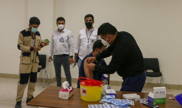 واکسیناسیون ۱۰۰۰ نفر از پرسنل مجتمع صنایع آلومینیوم جنوب