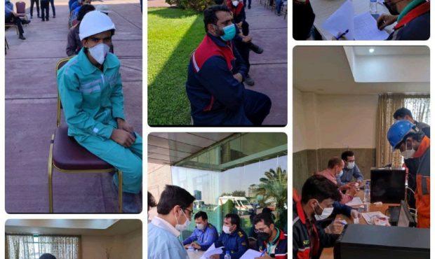 انجام واکسیناسیون کارکنان شرکت آهن و فولاد ارفع
