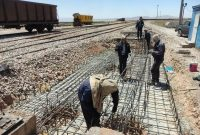 پروژه اصلاح مسیر ریلی فولاد خراسان با موفقیت اجرا شد
