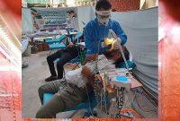 ارائه خدمات رایگان دندانپزشکی به زائران اربعین حسینی