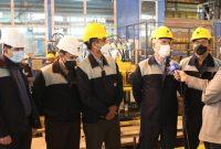 رکورد تولید ورق سازههای فولاد در ذوب آهن اصفهان شکسته شد