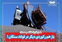 رکورد تولید ماهیانه گندله در فولاد سنگان، باز هم شکسته شد